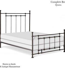 Corsican Queen Iron Bed - Slate