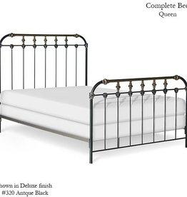 Corsican Queen Iron Bed Frame - Antique Black