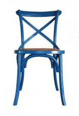 Bacon Basketware Cross Back Dining Chair - Turquoise