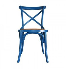 Bacon Basketware Crossback Dining Chair - Turquoise