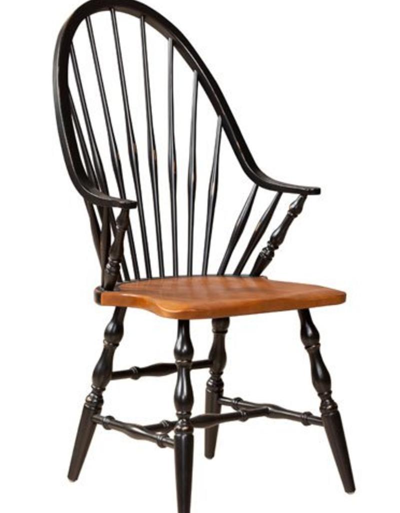 Dine Art High Back Windsor Arm Chair - Black