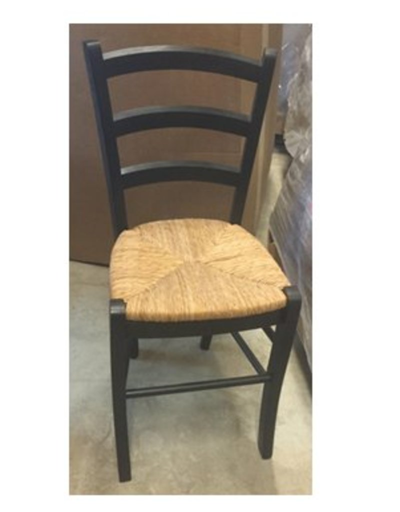 Dining Chair - Black with Wicker Seat