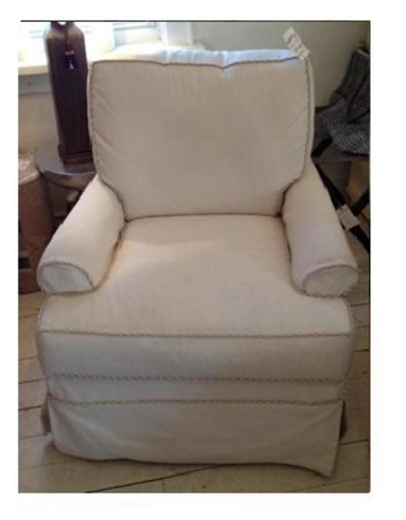 Braxton Culler Belmont Slipcover Swivel Glider Chair