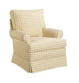 Lee Industries Swivel Glider Chair - Newport Blue