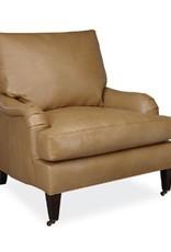 Lee Industries Leather Chair - Burnham Molasses
