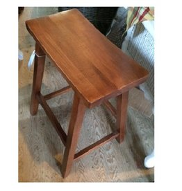 "Cody Road Workshops 24"" Saddle Stool - Antique Pine"