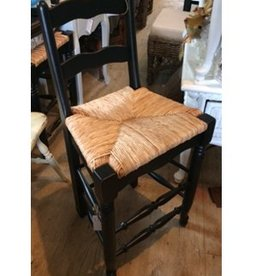 Lorts Counter Stool - Black with Wicker Seat