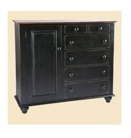 Cody Road Workshops Charleston 6 Drawer Chest - Old World Carriage Black