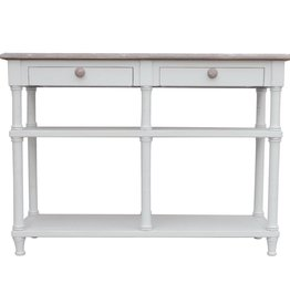 Trade Winds Island Hall Table - White