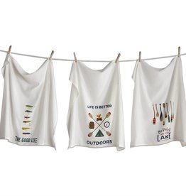 Tag ltd Outdoors Flour Sack Dishtowels Set of 3