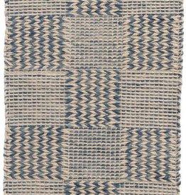 Dash & Albert Tiles Blue Jute Rug, 2x3