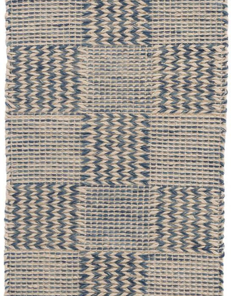 Dash & Albert Tiles Blue Jute Rug, 2x3