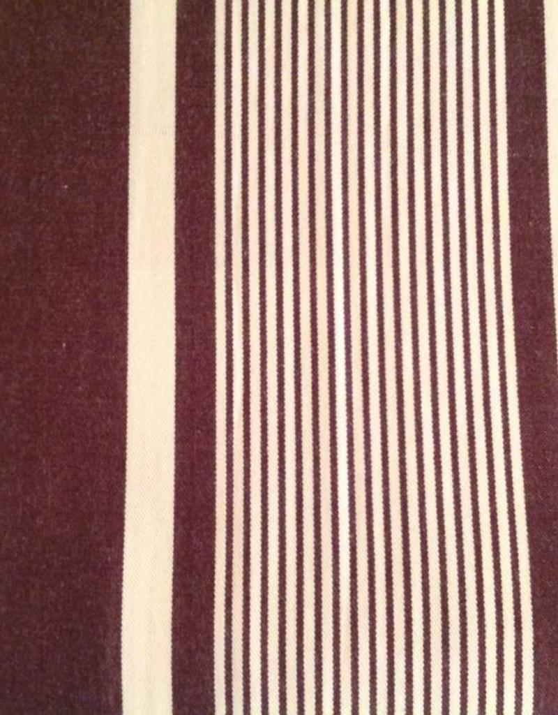 Taylor Linen Brown & Cream Striped Duvet Cover Queen