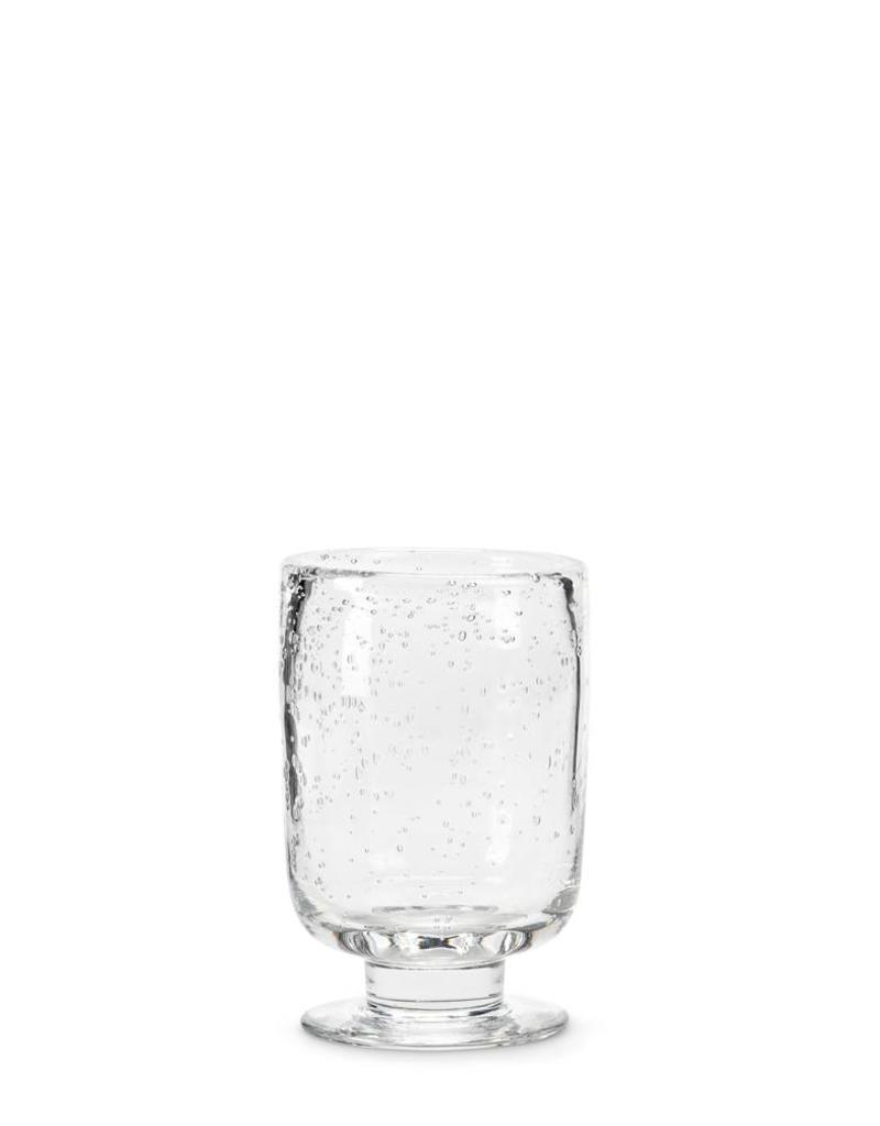 """Abbott Mini Seed Glass Footed Hurricane 6"""""""