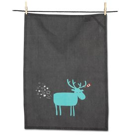 Abbott Party Moose Tea Towel