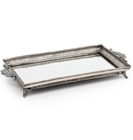Abbott Rect Footed Mirror Tray 5x11in
