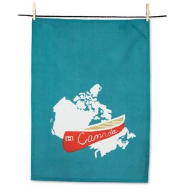 Abbott Red Canoe Tea Towel