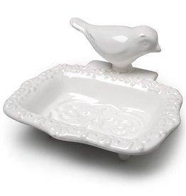 Abbott White Bird Soap Dish