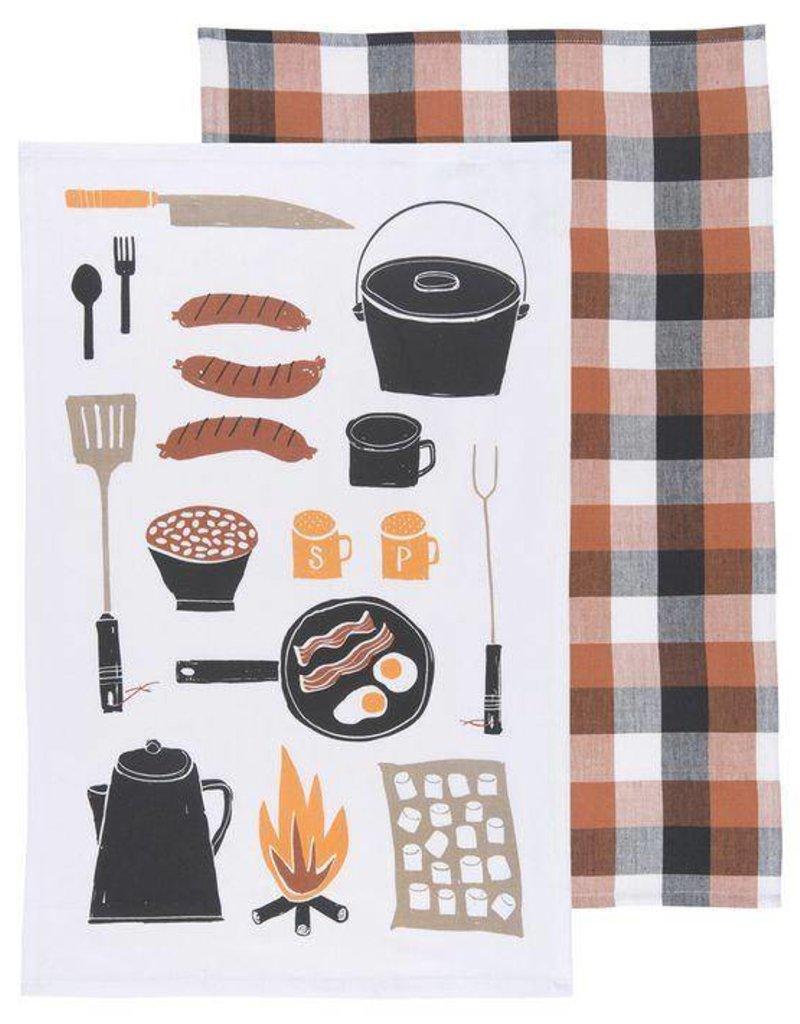 Danica Camp Cookout Dishtowels - Set of 2