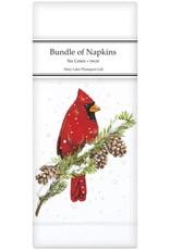 Mary Lake-Thompson Ltd Cardinal on Pine Linen Napkins