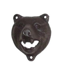 North American Country Home Bottle Opener Bear, Black