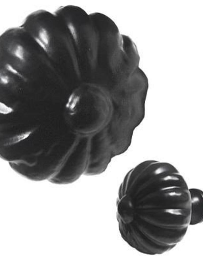 North American Country Home Flower Iron Knob, Black