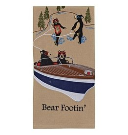 Park Design Bear Footin' Embroidered Dishtowel