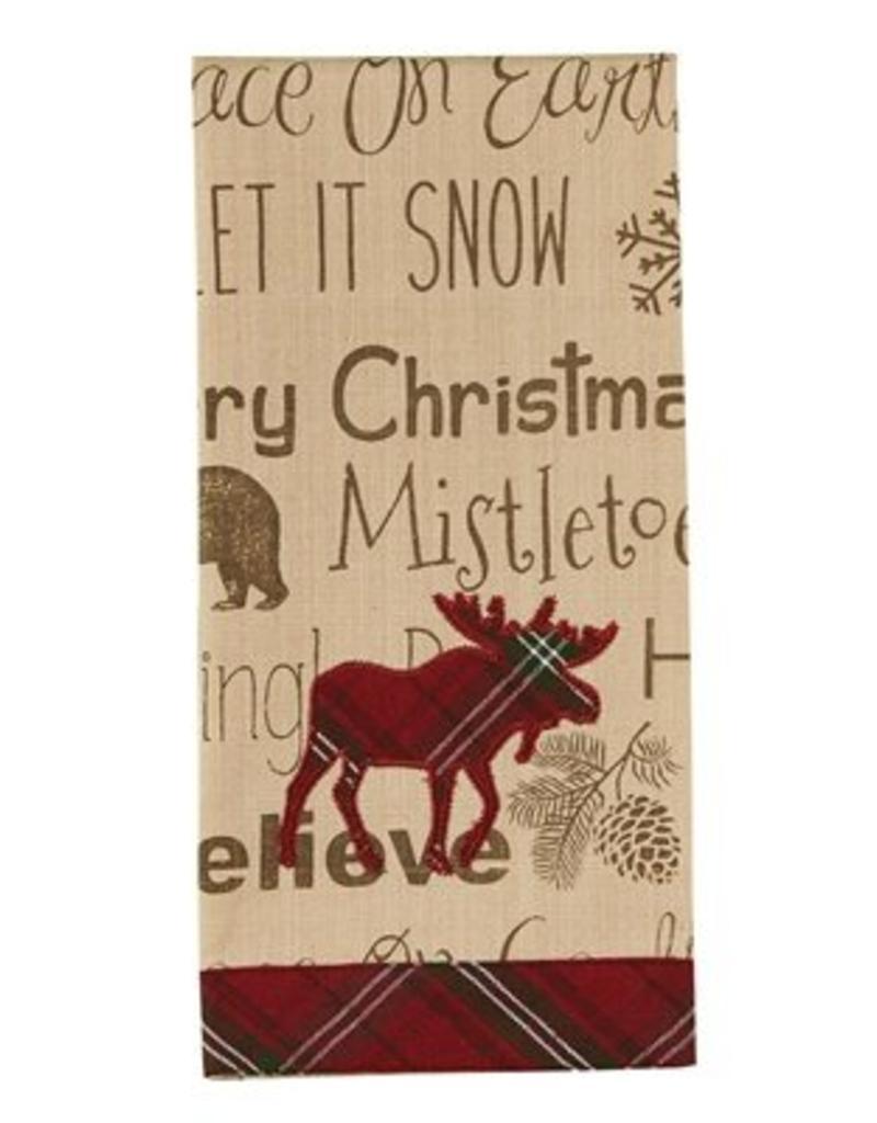 Park Design Highland Holiday Moose Guest Towel