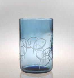 Rolf Glassware Blue Fish 14 oz. Tumbler