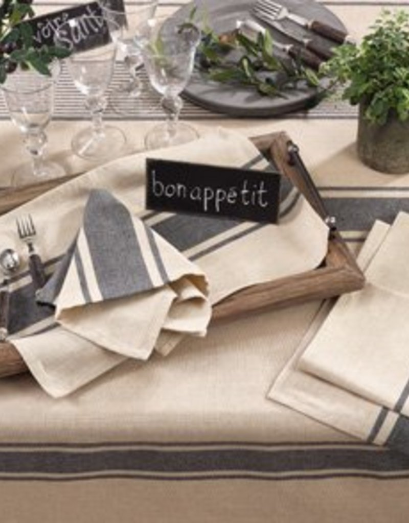 Saro Trading Company Aulaire Banded Design Tablecloth