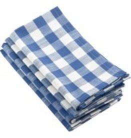 Saro Trading Company French Blue Ginham Design Napkins