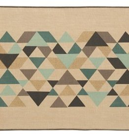 Danica Cotton/Linen Tessellate Table Runner