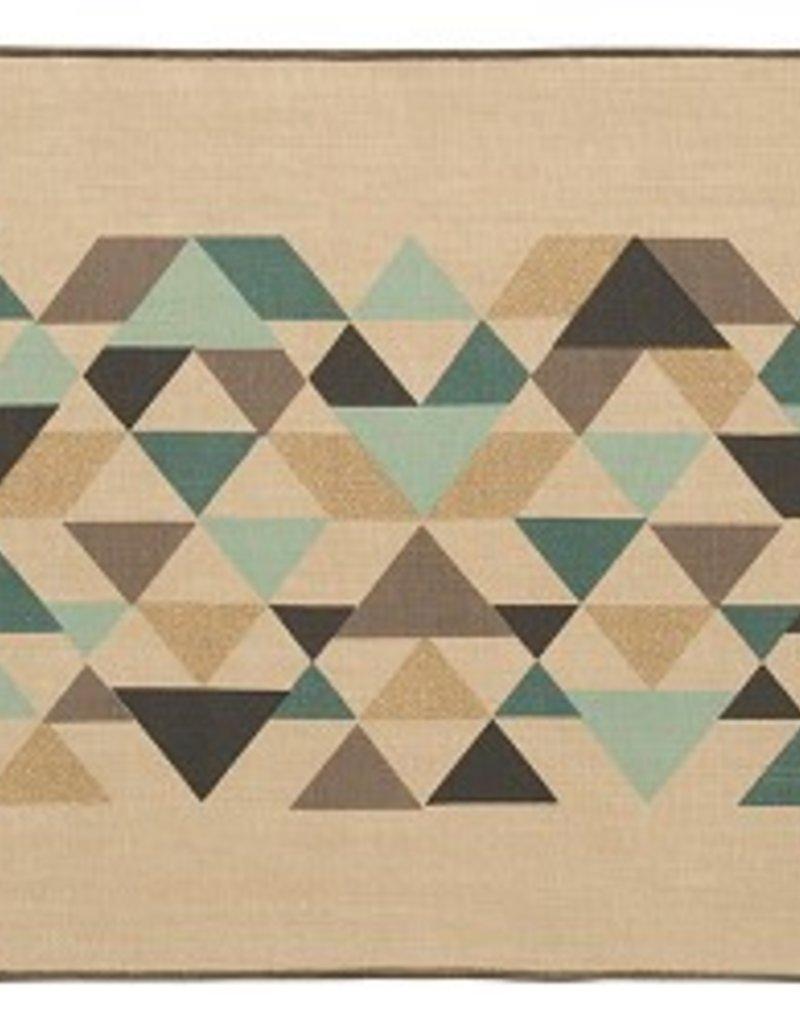 Danica Cotton/Linen Tessellate Table Runner