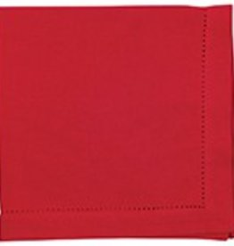 Danica Hemstitch Chili Red Napkin