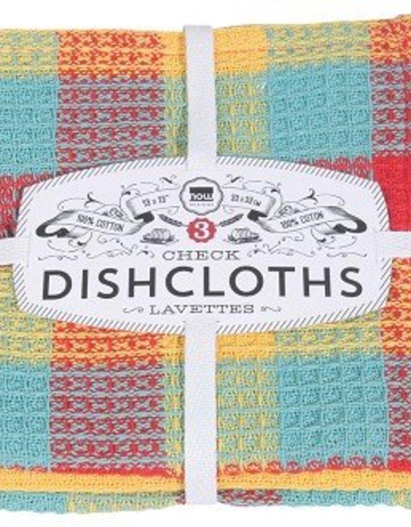 Danica Lemon Check Dishcloths