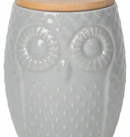 Danica Owl Canister Large - Gray