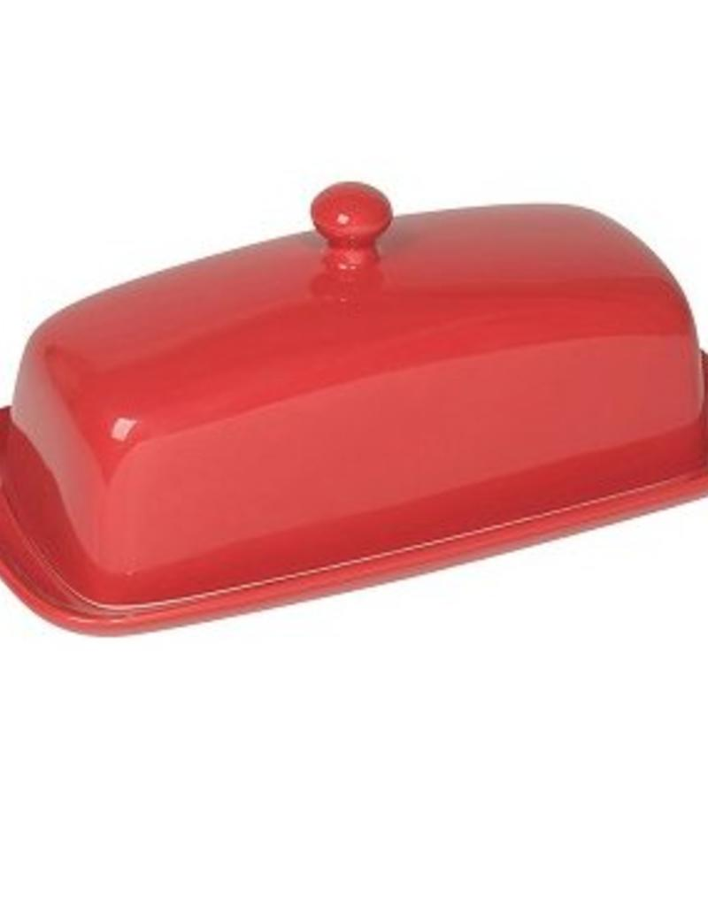 Danica Rectangle Butter Dish Red