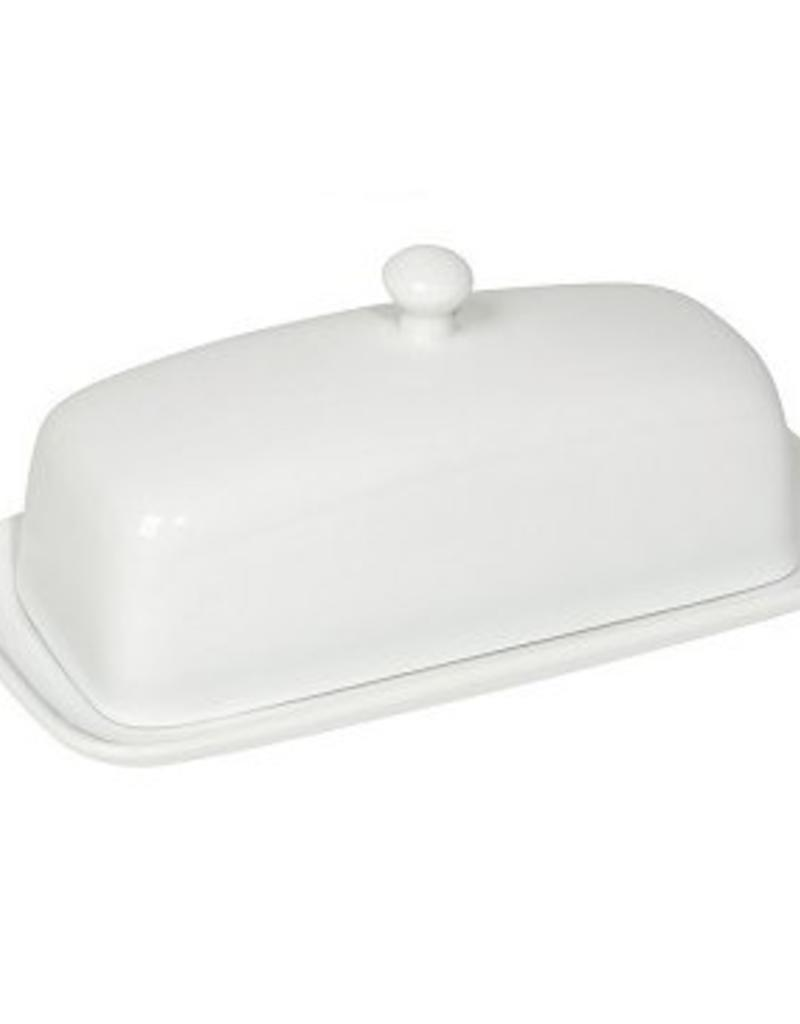 Danica Rectangle Butter Dish White