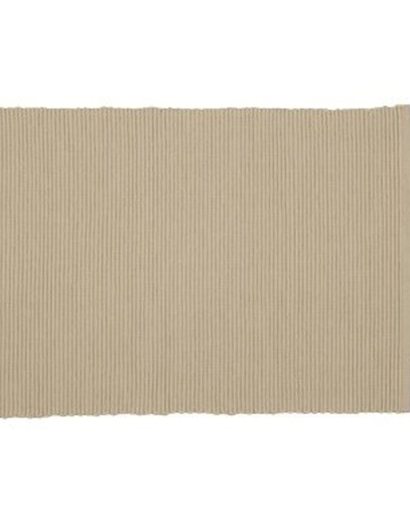 Danica Ribbed Light Taupe Placemat