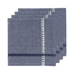 Danica Tangier Knotted Blue Napkins, Set of 4