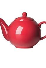 Danica Teapot Globe, 6 Cup, Red