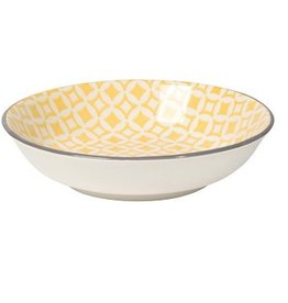 Danica Yellow Diamonds Dip Bowl