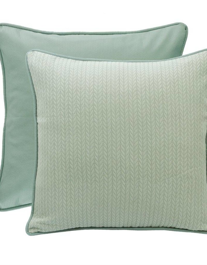 HiEnd Accents Reversible Textured Fabric Euro Sham 27x27