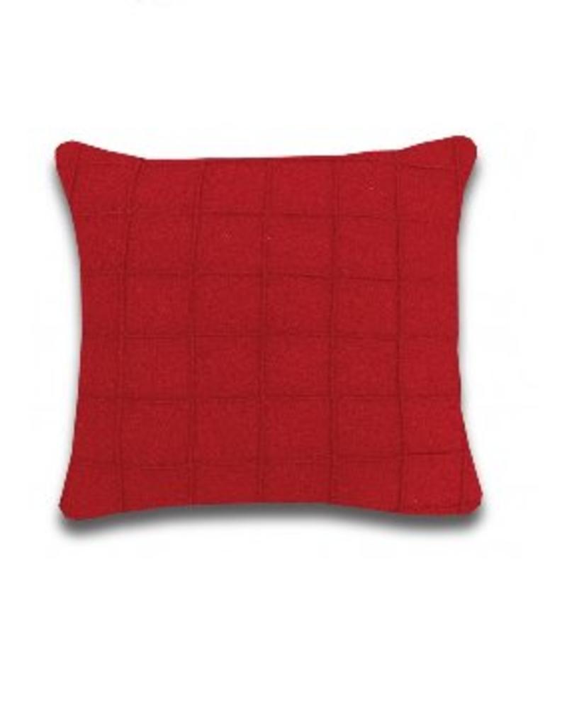 Alamode Home Rowan Red 24x24 Cushion