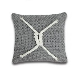 Alamode Home Ancon Grey Cushion 18x18