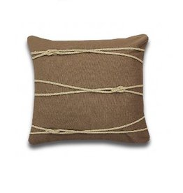 Alamode Home Mostyn Taupe Cushion