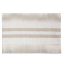 C&F Enterprises Sandstone & White Striped Placemat