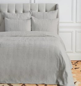 C&F Enterprises Waffle Pearl Grey King Coverlet