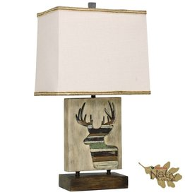 Style Craft Home Collection Accent Lamp with Deer Motif