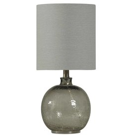 Style Craft Home Collection Mini Spanish Glass Ball Lamp, Smoke